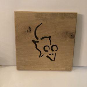 Holzbild Maus