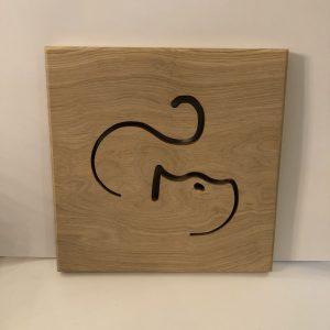 Holzbild Katze