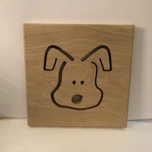 Holzbild Hund