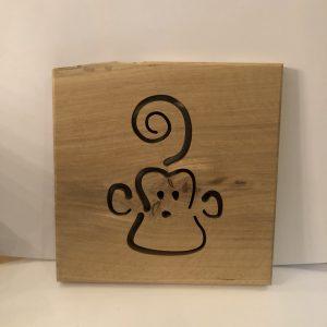 Holzbild Affe