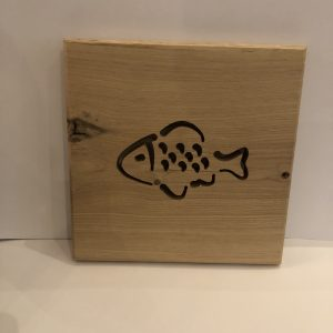 Holzbild Fisch